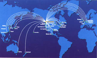 YVR Map of world routes