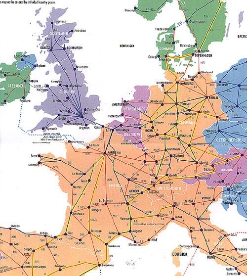 advrailseurailmap – Europe Train Travel Map